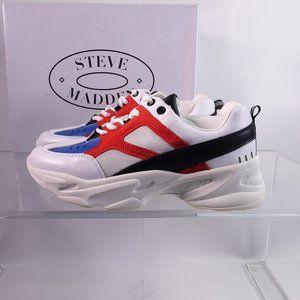 Steve Madden Baller Leather Platform Sneakers